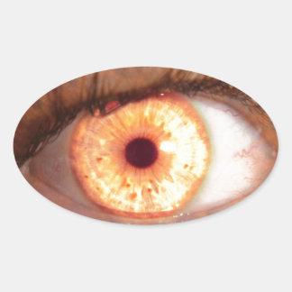 Fiery Mutant Eye Mouse Pad Oval Sticker