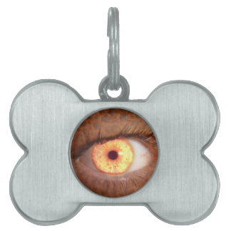 Fiery Mutant Eye Mouse Pad Pet Name Tag