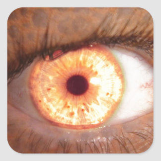 Fiery Mutant Eye Mouse Pad Square Sticker