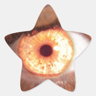 Fiery Mutant Eye Mouse Pad Star Sticker