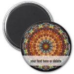 Fiery Needlework kaleidoscope 2 Inch Round Magnet