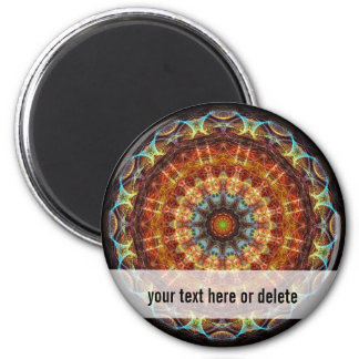 Fiery Needlework kaleidoscope Magnet
