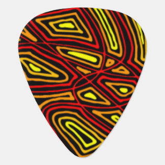 Fiery Night Guitar Pick