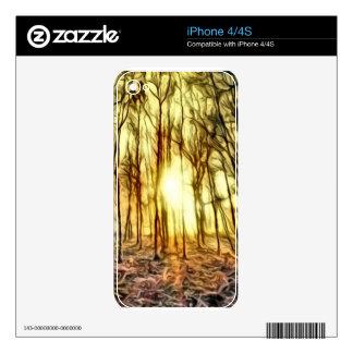 Fiery Night iPhone 4 Skin