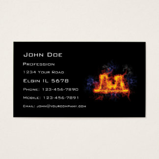 Fiery Nuclear Facility Business Card