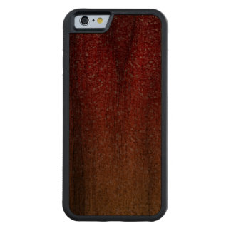 Fiery Ombre with Glitter Effect Carved Walnut iPhone 6 Bumper Case