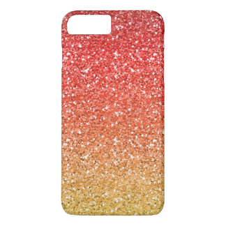 Fiery Ombre with Glitter Effect iPhone 8 Plus/7 Plus Case