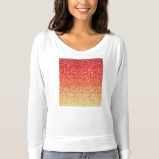 Fiery Ombre with Glitter Effect T-shirt