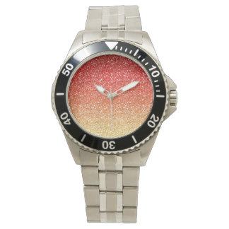 Fiery Ombre with Glitter Effect Watches
