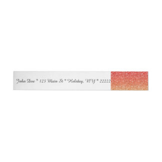 Fiery Ombre with Glitter Effect Wrap Around Address Label