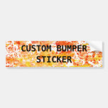 Fiery Orange and Yellow Mixed Media Background Bumper Stickers