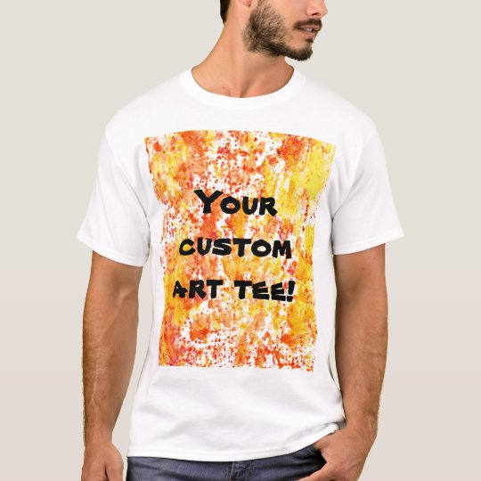 Fiery Orange and Yellow Mixed Media Background T-Shirt