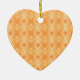 Fiery Orange Diamonds Pattern Ceramic Ornament