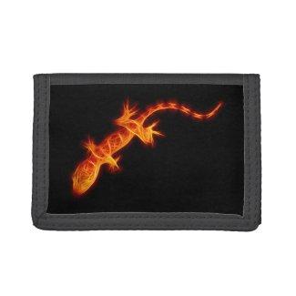 Fiery Orange Gecko Trifold Wallet