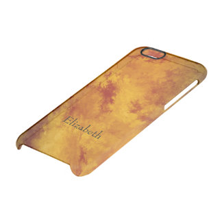 Fiery Orange Gold Abstract Clear iPhone 6/6S Case