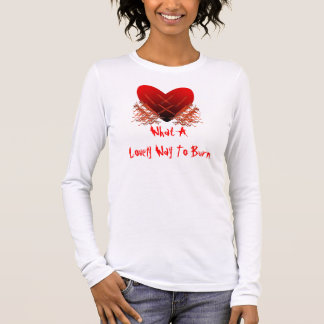 Fiery Passion Heart Long Sleeve Shirt