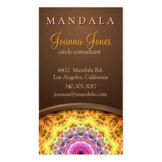Fiery Passion Holistic Mandala Business Card Template