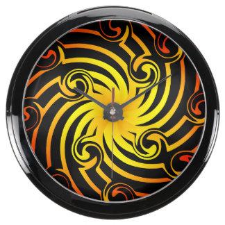 Fiery Pinwheel Fish Tank Clock