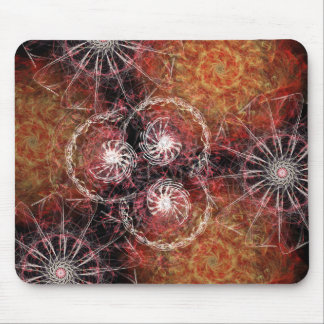 Fiery Pinwheel Mouse Pad