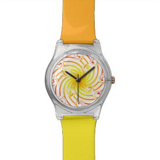Fiery Pinwheel Wrist Watches