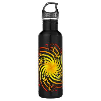 Fiery Pinwheel Water Bottle