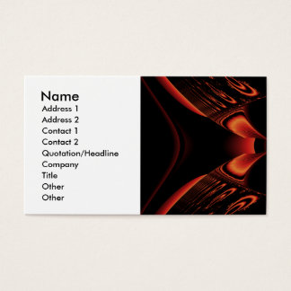 Fiery Red and Black Fractal. Business Card