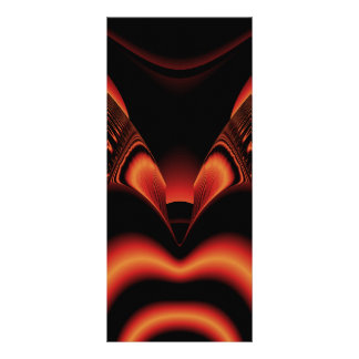 Fiery Red and Black Fractal. Custom Rack Card