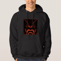 Fiery Red and Black Fractal. Hoodie