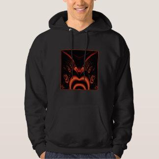 Fiery Red and Black Fractal. Hoodie