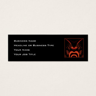Fiery Red and Black Fractal. Mini Business Card