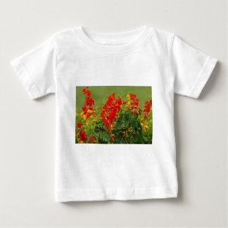 Fiery Red Hot Sally Salvia Flower Garden T-shirt