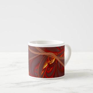 Fiery Red Moon 6 Oz Ceramic Espresso Cup