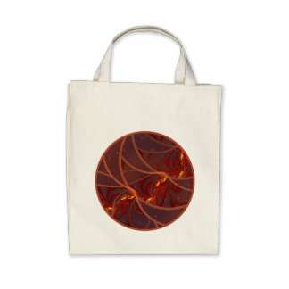 Fiery Red Moon Canvas Bag