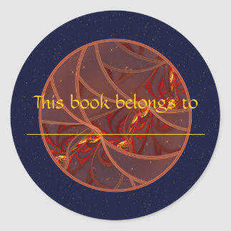 Fiery Red Moon Classic Round Sticker