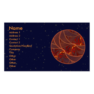 Fiery Red Moon Double-Sided Standard Business Cards (Pack Of 100)