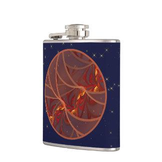 Fiery Red Moon Flask