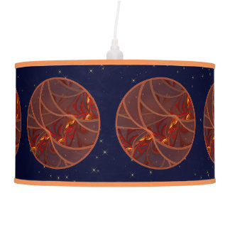 Fiery Red Moon Hanging Lamp
