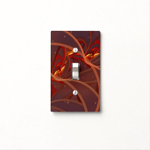 Fiery Red Moon Light Switch Cover