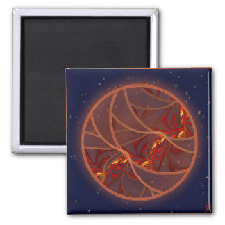 Fiery Red Moon Magnet