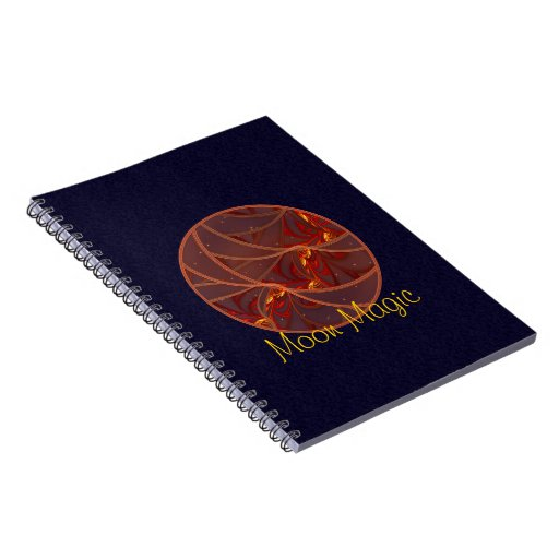 Fiery Red Moon Spiral Note Book