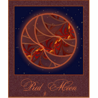 Fiery Red Moon Photo Sculpture Magnet