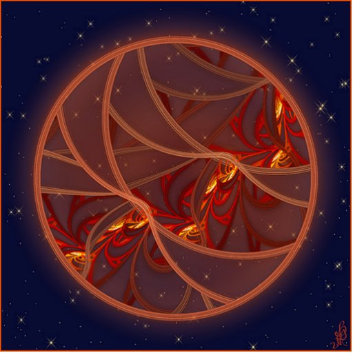 Fiery Red Moon Photo Sculpture