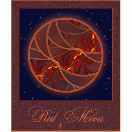 Fiery Red Moon Photo Cut Outs