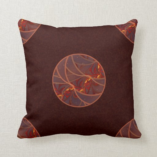 Fiery Red Moon Pillow