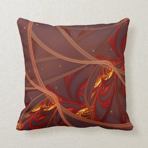 Fiery Red Moon Pillows