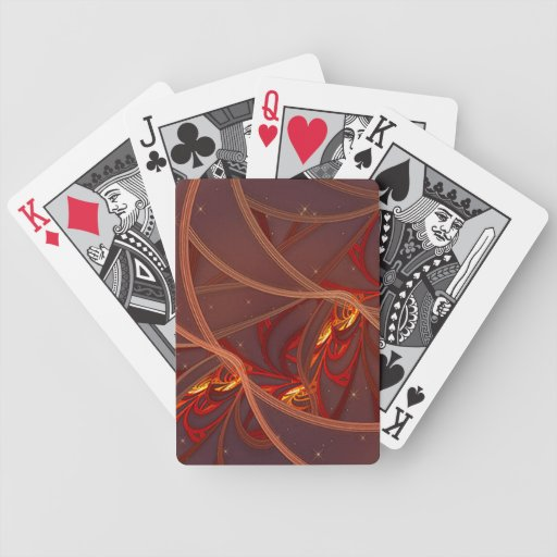 Fiery Red Moon Playing Cards