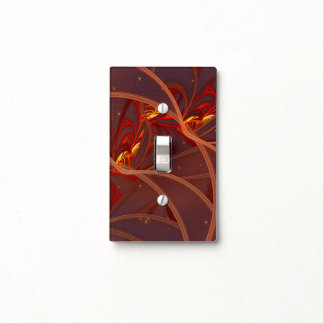 Fiery Red Moon Switch Plate Cover