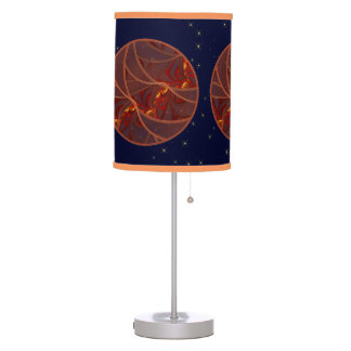 Fiery Red Moon Table Lamp
