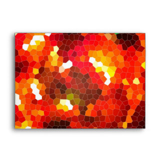 Fiery red stained glass envelope