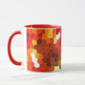 Fiery red stained glass mug